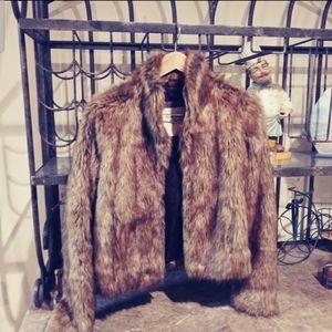 Abercrombie Faux Fur Coat